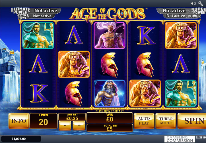 Age Of Gods Jackpot